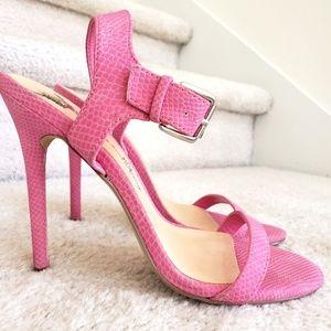 Pink Penny Loves Kenny Vegan Heels Size 7.5